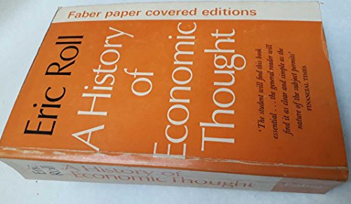 9780571048045: History of Economic Thought