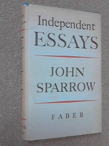 9780571054312: Independent Essays