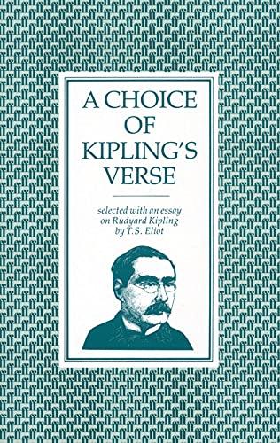 9780571054442: A Choice of Kipling's Verse