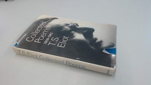 9780571055494 Collected Poems 1909 62 Iberlibro T S