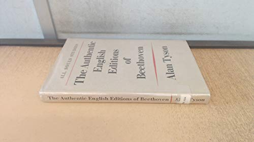 9780571056439: The Authentic English Editions of Beethoven