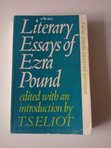 9780571057054: The Literary Essays of Ezra Pound