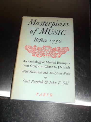 9780571057252: Masterpieces of Music Before 1750