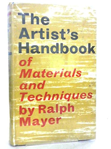 9780571059805: Artist's Handbook of Materials and Techniques