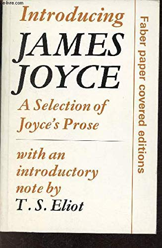 9780571061068: Introducing James Joyce: Selection of Joyce's Prose