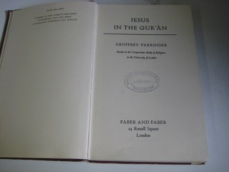 9780571063963: Jesus in the Qur'an