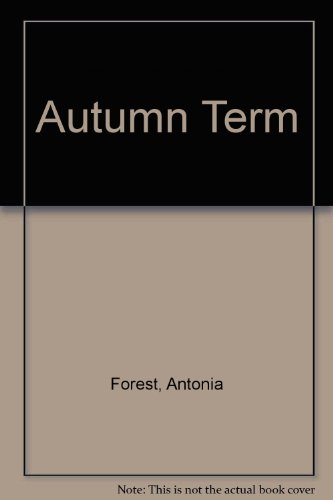 9780571065219: Autumn Term