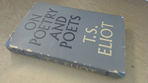 On Poetry and Poets (0571065309) by T. S. Eliot