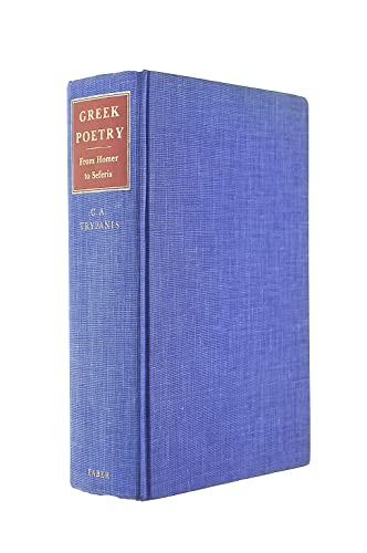 Greek Poetry From Homer to Seferis: Trypanis, C.A.