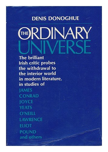 9780571086108: Ordinary Universe: Soundings in Modern Literature