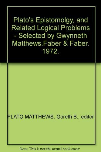 9780571089420: Epistemology and Related Logical Problems (Selections from philosophers)