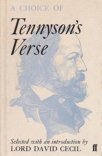 9780571091843: A Choice of Tennyson's Verse