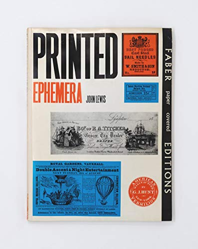 9780571092550: Printed Ephemera: The Changing Use of Type and Letterforms in English and American Printing
