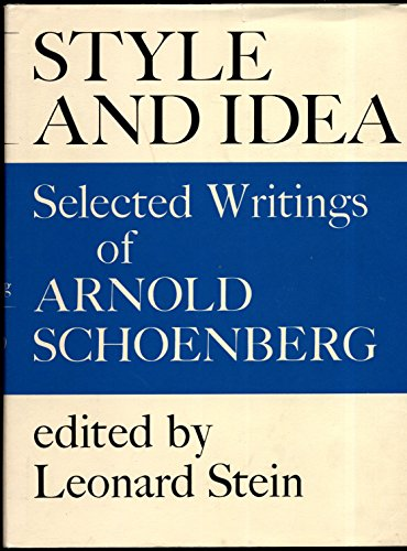 9780571097227: Style and Idea: Selected Writings