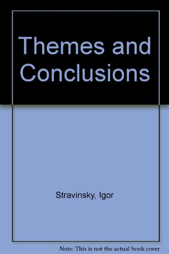 9780571100224: Themes and Conclusions