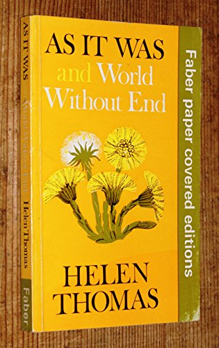 9780571101351: As It Was and World Without End