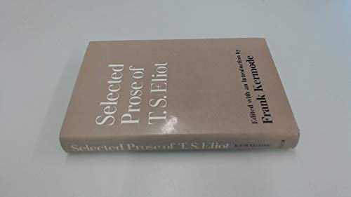 9780571102631: Selected Prose
