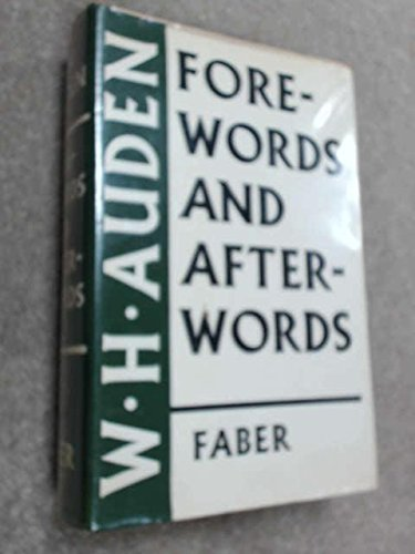 Forewords and Afterwords: Auden, W. H.