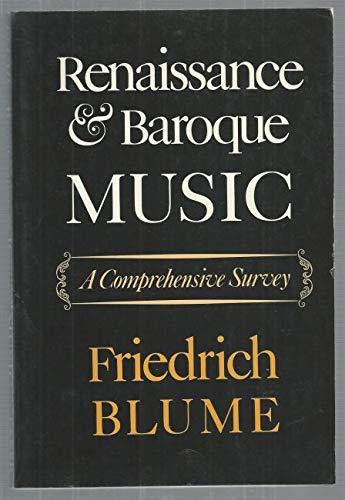 9780571107193: Renaissance and Baroque music: a comprehensive survey