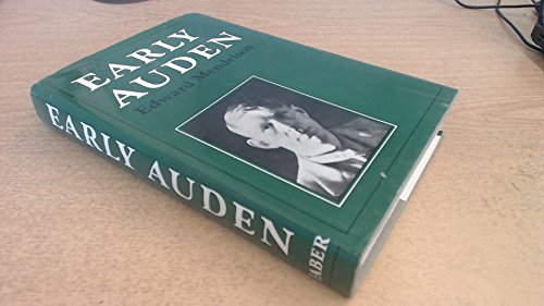 9780571111930: Early Auden