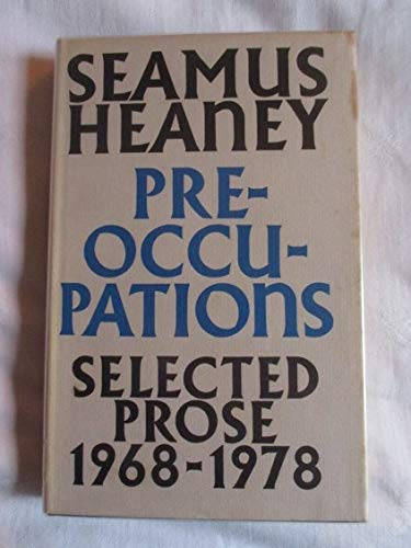 9780571116386: Preoccupations: Selected Prose, 1968-1978