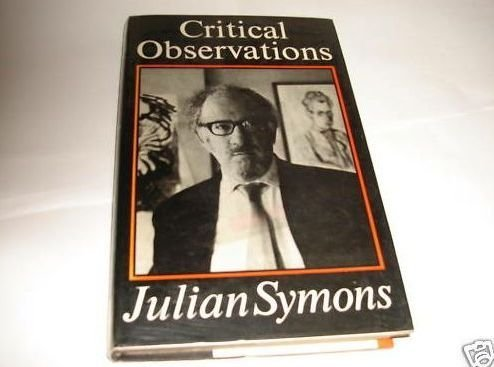 9780571116881: Critical Observations