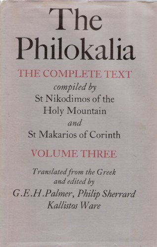 9780571117260: 003: The Philokalia: The Complete Text - Volume 3 (English and Greek Edition)