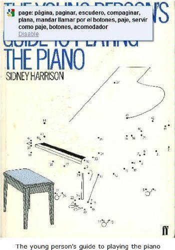 9780571118649: The Young Person's Guide to Playing the Piano (Faber paperbacks)