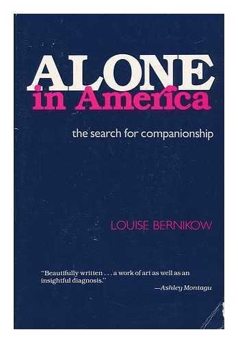 9780571129638: Alone in America: The Search for Companionship