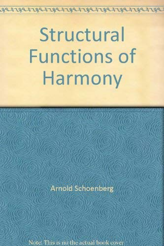 9780571130009: Structural Functions of Harmony