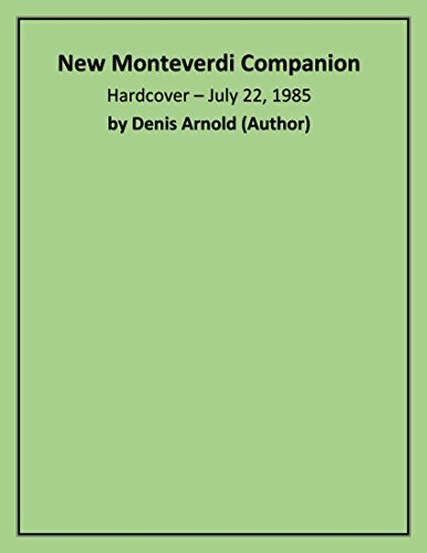 9780571131488: The New Monteverdi Companion