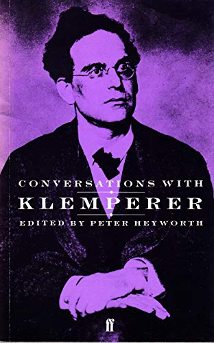 9780571135615: Conversations with Klemperer