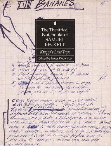 9780571145638: The Theatrical Notebooks of Samuel Beckett: Krapp's Last Tape v. 1