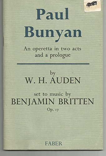 9780571151424: Paul Bunyan: Libretto