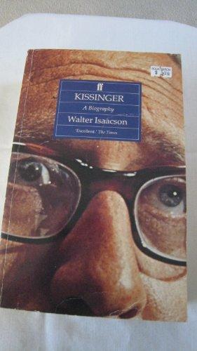 9780571169771: Kissinger: A Biography