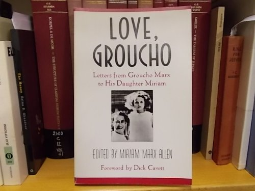 9780571198092: Love, Groucho: Letters from Groucho Marx to His Daughter Miriam
