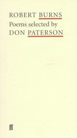 9780571207404 Robert Burns Poet To Poet Poems Selected