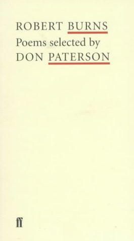 9780571207404: Robert Burns: Poems Selected by Don Paterson (Poet to Poet: An Essential Choice of Classic Verse)