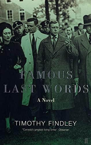 9780571209057: Famous Last Words