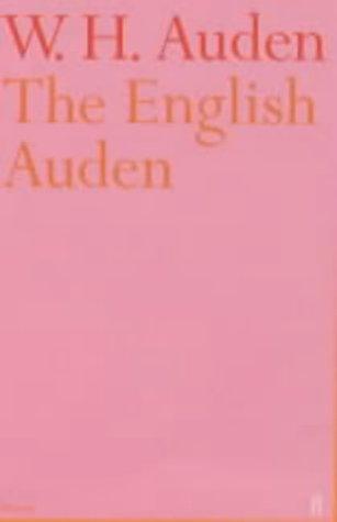 9780571212569: English Auden