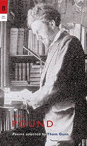 9780571226771: Ezra Pound: Poems Selected by Thom Gunn (Poet to Poet)