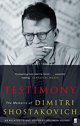 9780571227921: Testimony: The Memoirs of Dmitri Shostakovich as related to and edited by Solomon Volkov