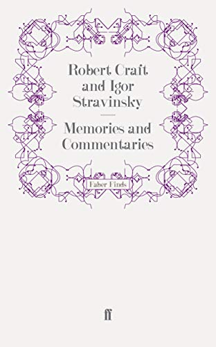 9780571256051: Memories and Commentaries