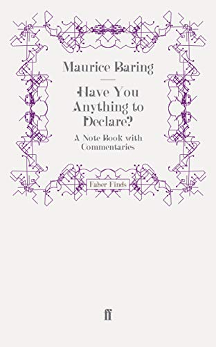 9780571273058: Have You Anything to Declare?: A Note Book with Commentaries