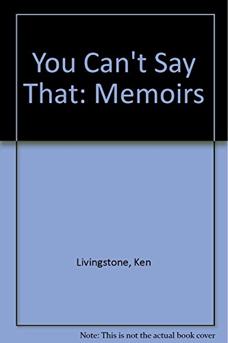 9780571288144: You Can't Say That: Memoirs