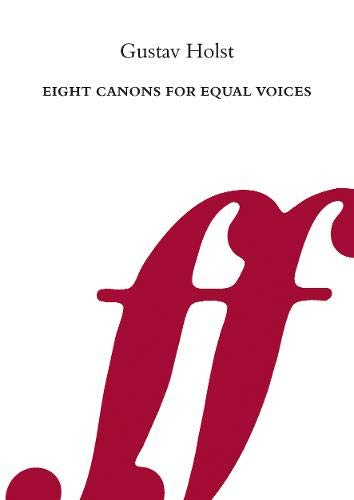 9780571500086: Eight Canons for Equal Voices (Faber Edition)