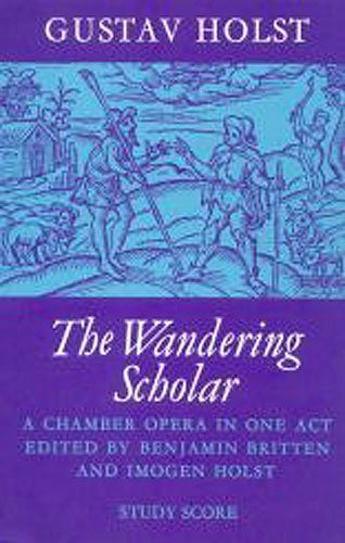 9780571503919: The Wandering Scholar: A Chamber Opera in One Act, Score (Faber Edition)