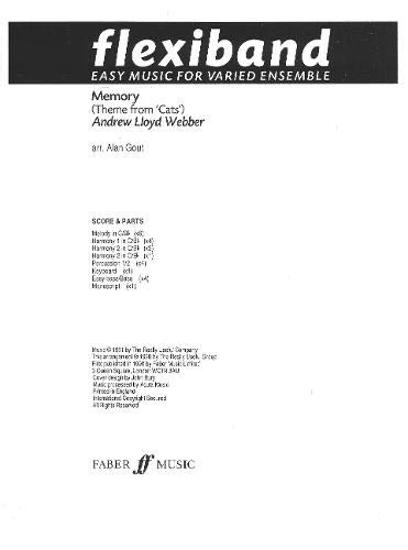 9780571511723: Memory: Flexiband (score and Parts)
