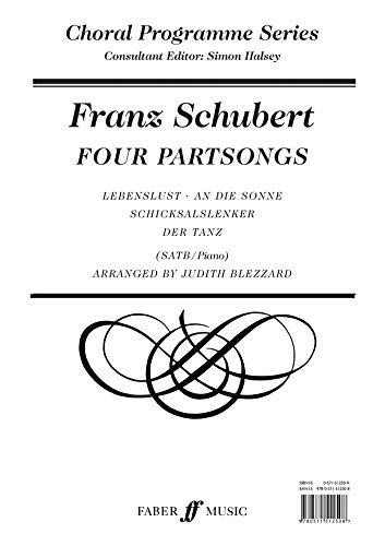 9780571512508: Four Partsongs: SATB Accompanied (Choral Programme Series)