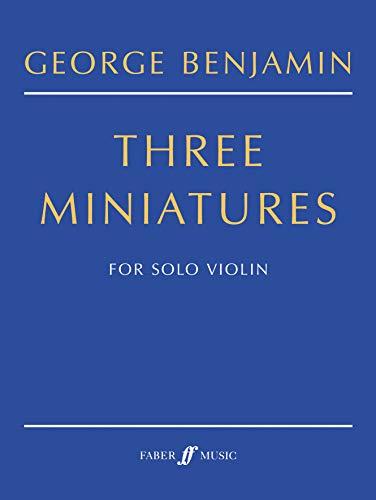 9780571522026: Three Miniatures: (Solo Violin)